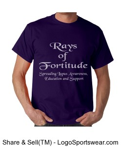 Purple Rays of Fortitude Tee Design Zoom