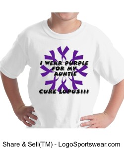 "Youth ""I wear Purple For My Auntie"" Design Zoom"