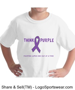 Kids Think Purple Tee Design Zoom