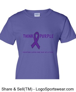 Think Purple Ladies Tee Design Zoom